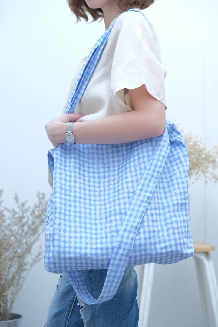 กระเป๋าผ้าลินิน 3 สาย ลายมัดย้อม
